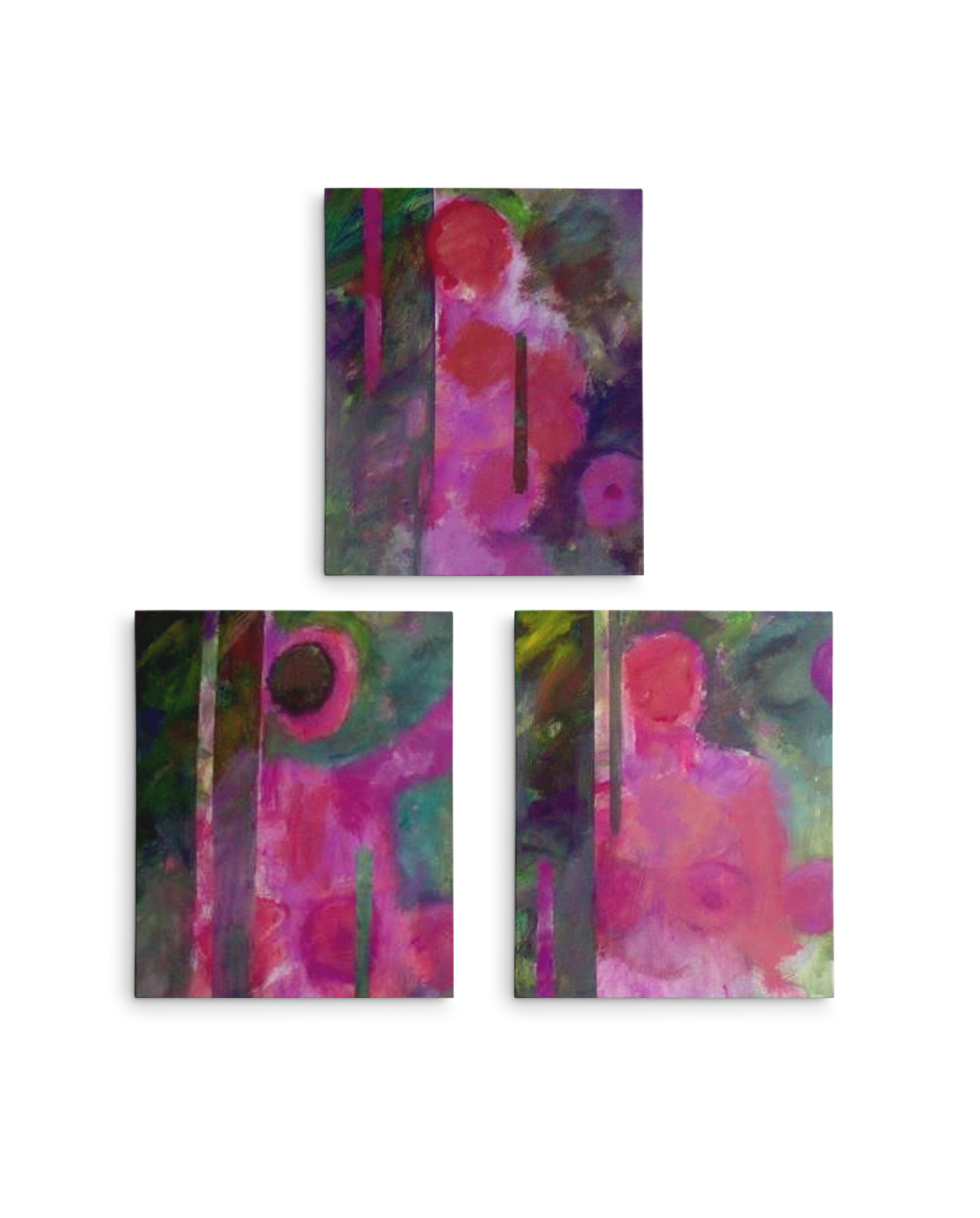 MARILYN MONROE TRIPTYCH OLJA ON MASONITE